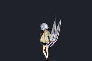 schoolgirl anime manga short hair anime girls amamiya kyouka weapon short skirt karasuma wataru not lives school uniform white hair