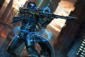 science fiction artwork weapon futuristic