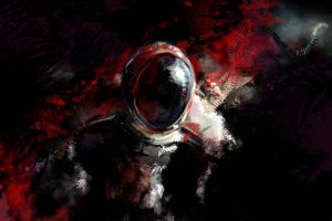 science fiction astronaut artwork