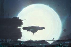 science fiction digital art futuristic