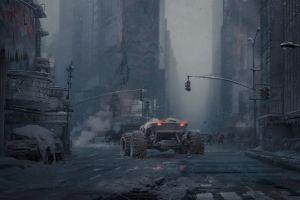 science fiction futuristic city artwork