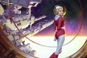 science fiction retro science fiction astronaut artwork