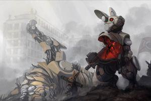 science fiction robot concept art rabbits
