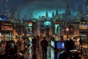 science fiction sky futuristic city rain night city artwork futuristic