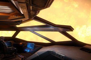 science fiction space sun