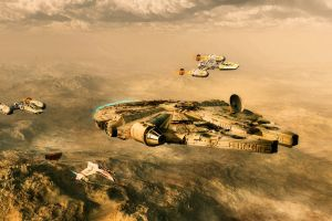 science fiction spaceship y-wing star wars millennium falcon star wars ships digital art vehicle