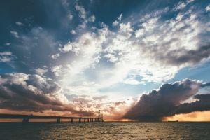 sea clouds denmark landscape