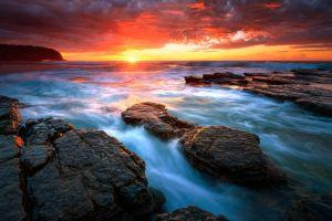 sea coast nature sunlight