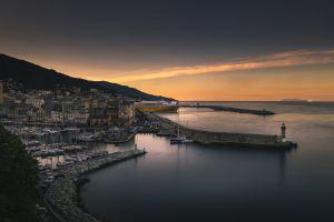 sea harbor landscape sardinia ship coast city