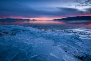 sea ice nature landscape water winter