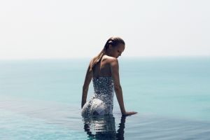 sea model swimming pool water women