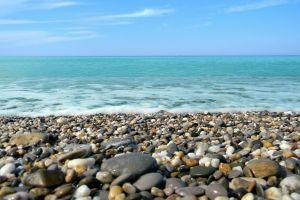 sea nature stones