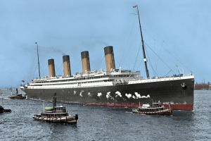 sea ship smoke nature chimneys landscape dock steamship history boat crowds colorized photos rms olympic