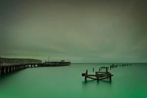 sea water pier sky