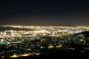 sea water south africa photography lights cityscape cape town city urban night