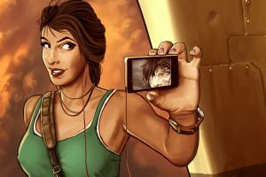self portraits lara croft tomb raider self shot