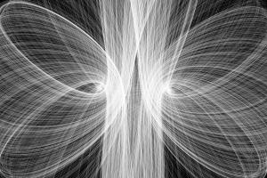 shapes digital art lines monochrome