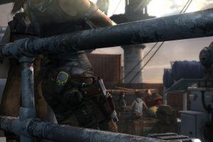 ship lara croft sailing video games tomb raider gun