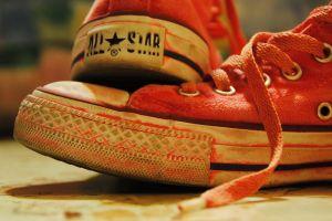 shoes closeup converse