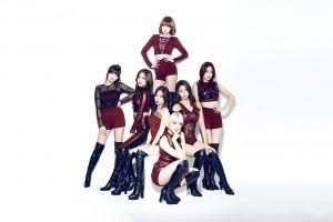 shorts choa blonde k-pop knee-high boots women music aoa girl band brunette seolhyun jimin chanmi asian korean
