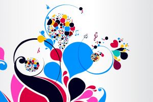 simple background abstract pattern heart (design) colorful white background shapes