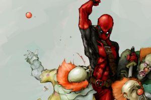 simple background antiheroes deadpool