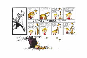 simple background calvin and hobbes cartoon