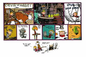 simple background calvin and hobbes comics