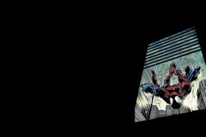 simple background comic art comics spider-man