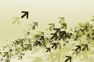simple background digital art arrows (design)