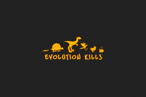 simple background evolution dinosaurs humor