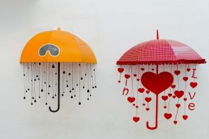 simple background love heart (design) heart umbrella