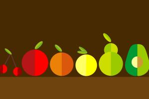 simple fruit minimalism digital art