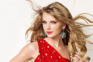 singer women blue eyes celebrity glamour taylor swift simple background