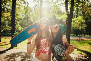 skateboard model women women outdoors women with glasses