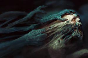 skull dark hell despair