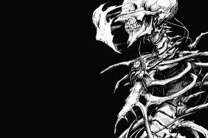 skull face biomega bones drawing