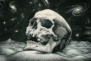 skull monochrome artwork