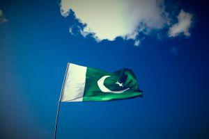 sky green pakistan flag