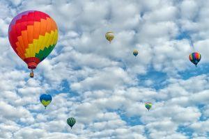 sky hot air balloons nature