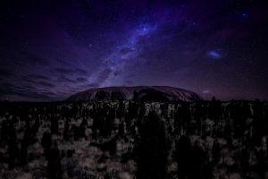 sky landscape starred sky night