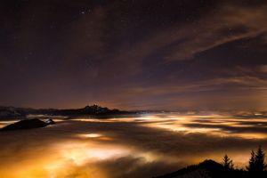 sky lights landscape night sky