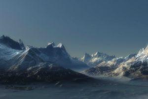 sky multiple display snow mountains