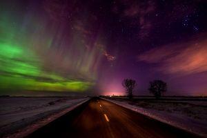sky night sky road nature