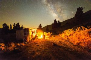 sky outdoors campfire night