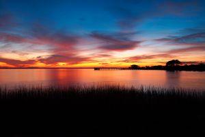 sky river sunset