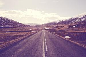 sky road landscape asphalt
