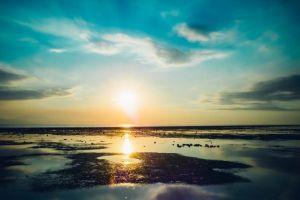 sky water sunlight landscape