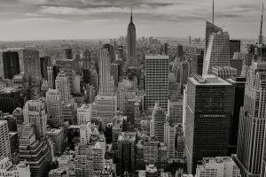 skyscraper usa monochrome urban