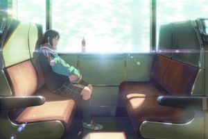 sleeping anime girls original characters anime train